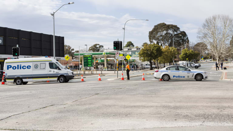 Police investigate two scenes in central Queanbeyan where a man was shot about 4am on Saturday morning.