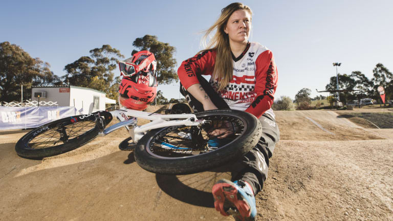 Canberra's Harriet Burbidge-Smith has dusted off the BMX as she sets her sights on a home-town win.