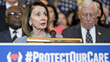 Democrats including House Speaker Nancy Pelosi are happy that the Republicans are picking a fight on healthcare again.