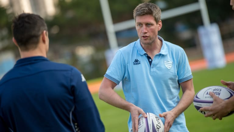 O'Gara as coach of Racing 92 in 2016.