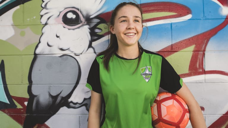 Canberra United Academy striker Aoife Colvill.