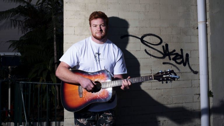 Sydney University prop Harry Johnson-Holmes is quite the musician.