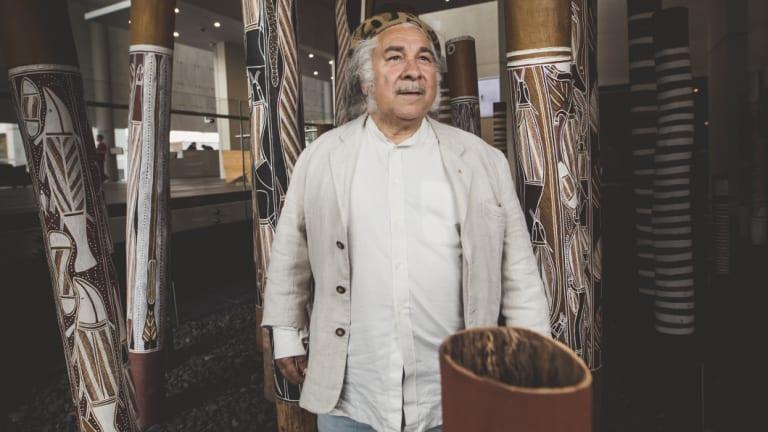 Djon Mundine, conceptual producer of 'The Aboriginal Memorial 1987-88.'