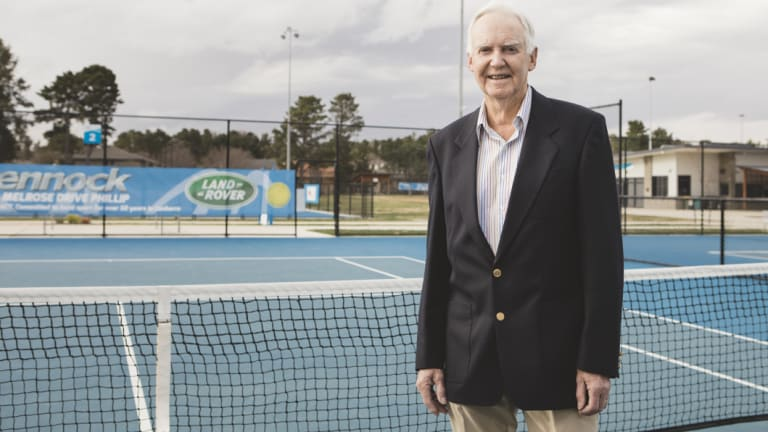 Bruce Larkham spent most of his living playing and coaching tennis.