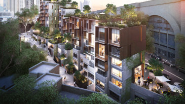 An artist's impression of the modernised Sirius building in the Rocks.