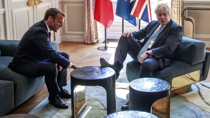 French President Emmanuel Macron wasn't in the mood for compromise with British PM Boris Johnson.