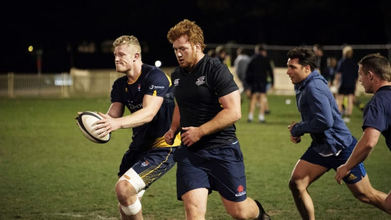 Ready: Sydney University players train ahead of Saturday's Shute Shield final.