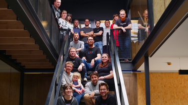 The Savage Interactive team. CEO James Cuda is top centre.