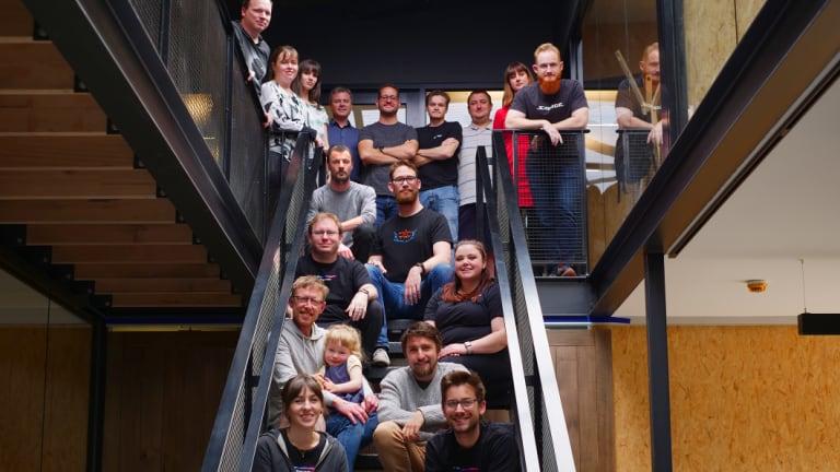 The Savage Interactive team. CEO James Cuda is top centre.