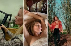 Images of three NFTs of the model Kate Moss that were auctioned this week. April 14, 2021