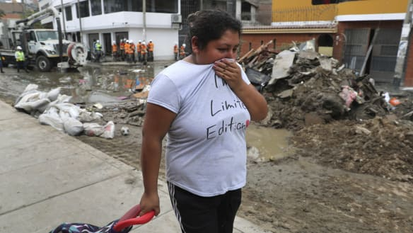 'You can't even breathe here': giant sewage spill befouls Peru capital