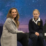 Rowena Vitarelli and her year 7 daughter Amelia at Fintona Girls' School.