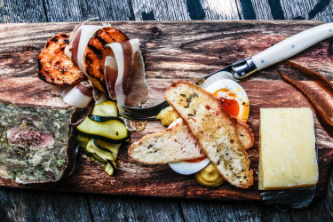 Northern Ground's antipasto platter showcases local ingredients.