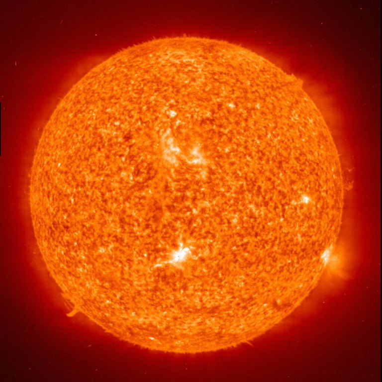 The sun photographed by NASA's Extreme Ultraviolet Imaging Telescope.