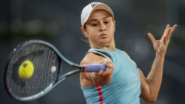 Wally Masur says Ashleigh Barty's forehand has been her biggest weapon on clay.