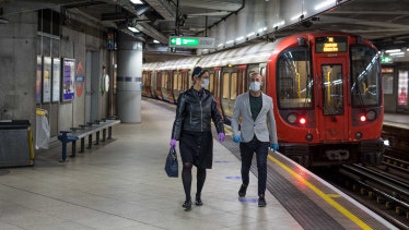 Westminster Station, one of the busiest in central London, is largely empty.