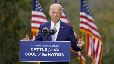 Joe Biden on the campaign trail in Georgia.