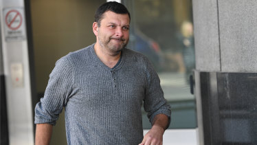 Seb Monsour leaves the police watch house in Brisbane, Friday, June 22, 2018.