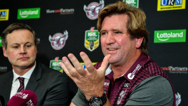 One of a kind: Des Hasler has been likened to a mad scientist by his Manly players.