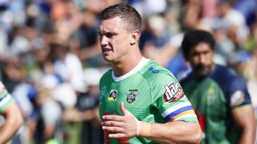 Jack Wighton is preparing to play his first NRL game since being banned last season.