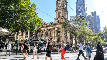 People are slowly returning to Melbourne's CBD, but not as quickly as the city's council would like.
