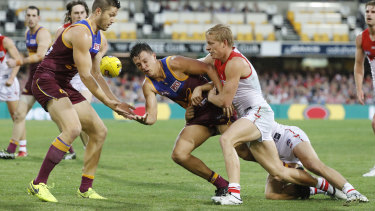 Battling: The Brisbane Lions struggle to attract viewers in Queensland.