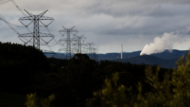 Out with the old: The Mount Piper coal-fired power plant near Lithgow, in June 2020.