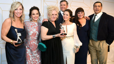 The cast of Wentworth with their Logie Awards.