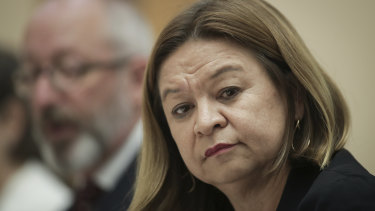 ABC managing director Michelle Guthrie during a Senate estimates hearing.