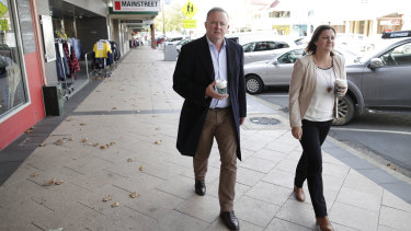 Albanese and Kristy McBain tour Cooma  - a travelling media party has been watching the socially distanced campaign.