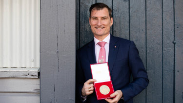 David McAllister after collecting his award on Wednesday.