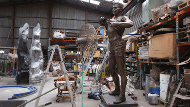The Winmar statue is sitting in a foundry in Sunshine.