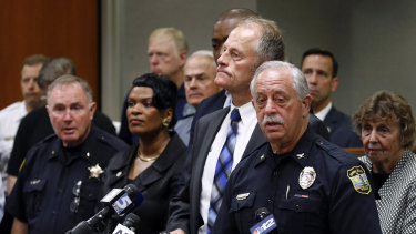 Virginia Beach Police Chief James Cervera speaks at a news conference on the mass shooting in Virginia Beach.