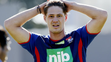 No cigar: Kalyn Ponga, who narrowly missed out on the Dally M Medal in 2018, will play in the halves for the Maori All Stars.