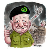 "Roger Corbett says ""nothing went wrong"" in Tony Abbott's failed Warringah campaign. Illustration: John Shakespeare"
