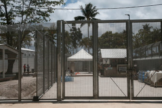 The Manus Island facility.