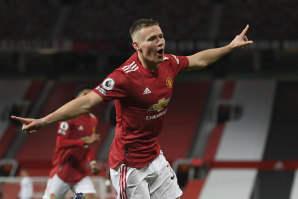 Scott McTominay scored twice in the first three minutes in Manchester United's rout of Leeds.