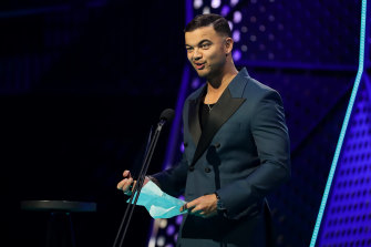Singer Guy Sebastian at the ARIAs  in 2019.