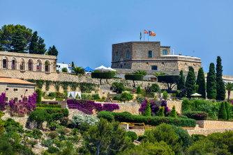 The Sa Fortalesa villa in Pollenca, Mallorca, where Rafael Nadal married Mery Perello.