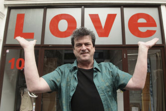 Bay City Rollers singer Les McKeown poses for the media during a photocall to celebrate the release of the band's career retrospective boxset, 'Rollermania: Bay City Rollers The Anthology' in London.