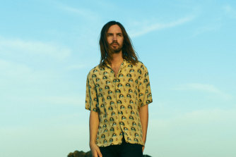 Tame Impala's Kevin Parker. The group has received two Grammy nominations.