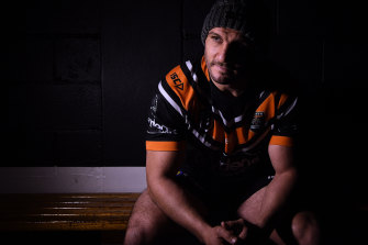 Tough Tiger: Robbie Farah is ready for the 300th NRL game he thought he'd never have.