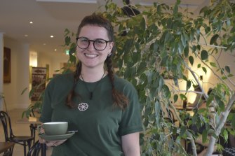 Even the coffee is roasted in Perth: head barista Caitie MacDonald.
