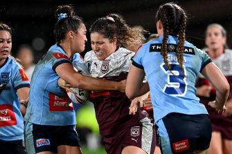 The women currently play just one Origin game.