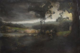 Art must say the unsayable: Tasmanian artist Rodney Pople's painting, Port Arthur, won the Glover Prize for landscape in 2012.