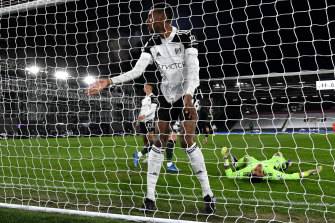 Tosin Adarabioyo of Fulham reacts after his decisive own goal during the Premier League loss to Tottenham.