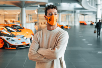 Daniel Ricciardo at McLaren headquarters in the UK.