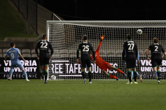 Maclaren finds the net from the penalty spot.