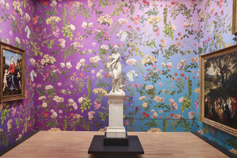 Wallpapers by Fallen Fruit at the NGV highligh the role of colour.