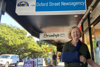 Bulimba newsagent Donna Bradshaw says residents would prefer to walk over a green bridge than use Shafston Avenue or Wynnum Road to get into the city.